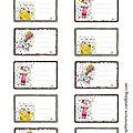 planche étiquettes cahiers école 2013