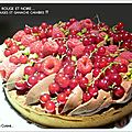 Tarte fruits rouges / ganache caraïbes