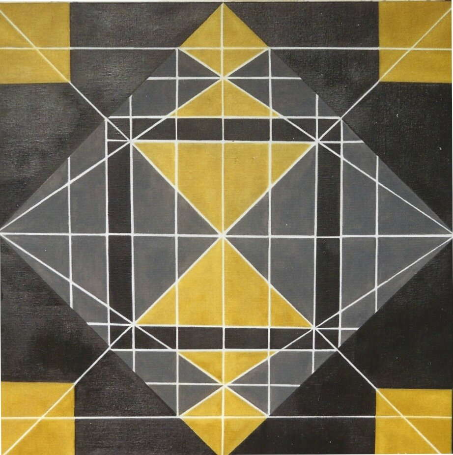 Abstraction g om trique theoreme huile sur toile 80x80 for Abstraction geometrique