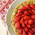 Gâteau léger rhubarbe et fraises {le tout bio}