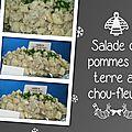 Salade de pommes de terre au chou-fleur