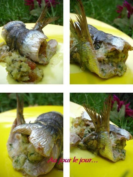 Sardines farcies herbes et parmesan au jour le jour - Cuisiner des filets de sardines fraiches ...