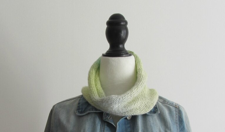 snood dégradé jaune 4