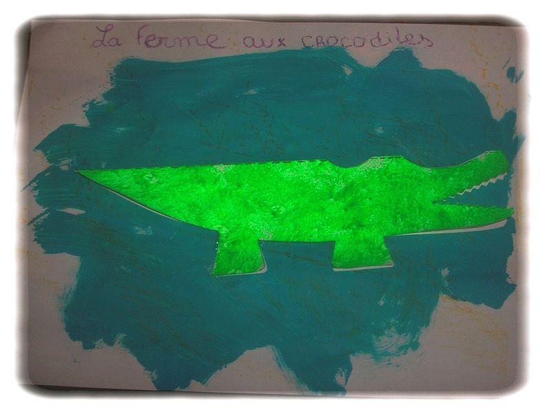 Ah les crococo les crocodiles chez tatie nounou for Peinture crocodile