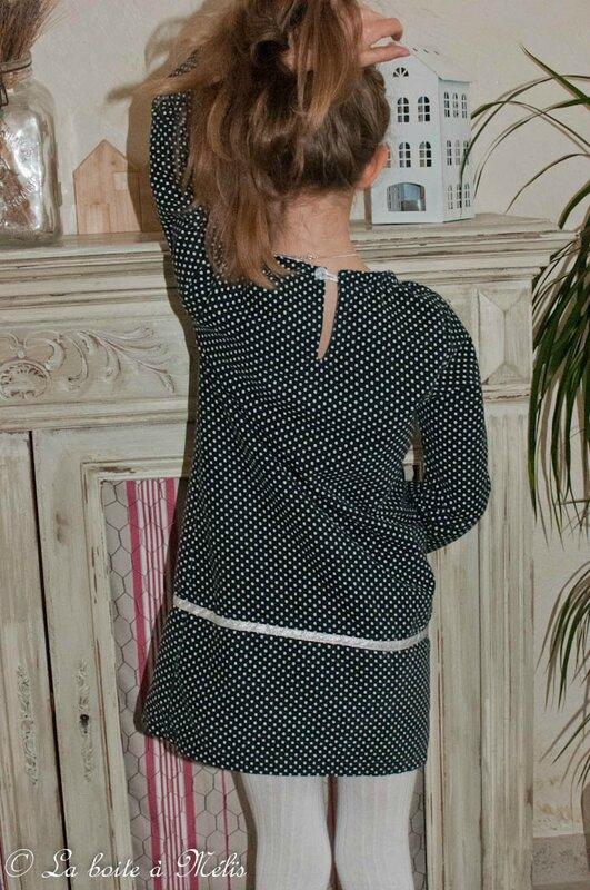 robe Y velours Mélie dos