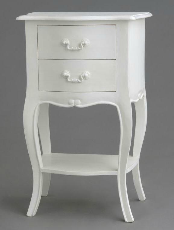 Meubles de chambre romantiques ou baroques meubles et d coration amadeus - Chevet blanc romantique ...