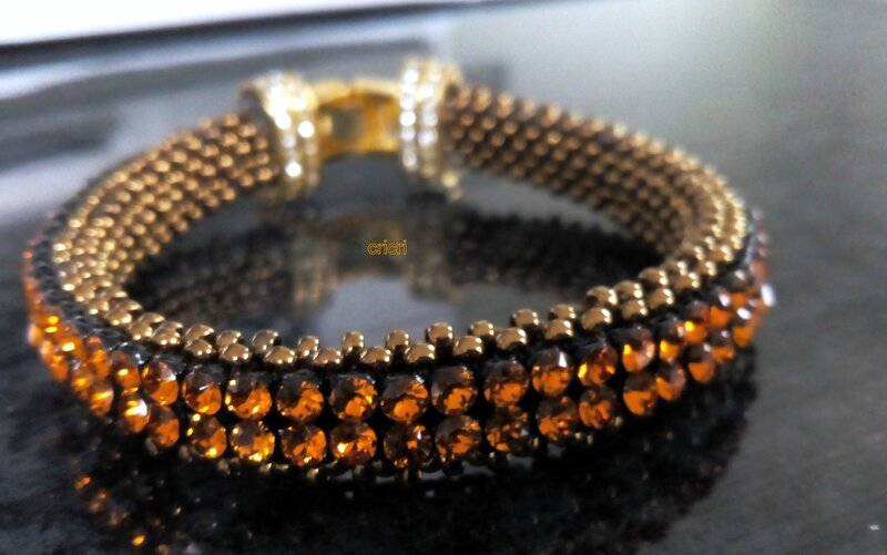 bangle sem mesh marron topaze