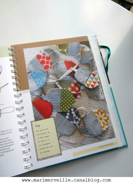 A year in crafts - guirlande de glands - blog marimerveille
