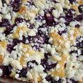 Placek na maślance i kruszonką-gâteau au babeurre aux cerises avec son crumble