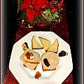 Toast de foie gras sur quatre-quart