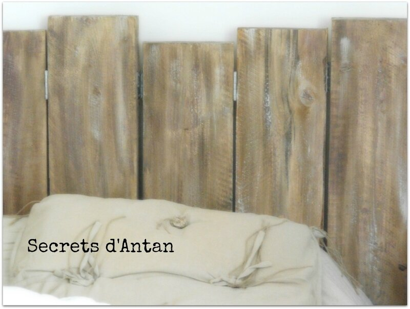 woodbarn headboard t te de lit en bois de grange panache of tete de lit en planche de bois. Black Bedroom Furniture Sets. Home Design Ideas