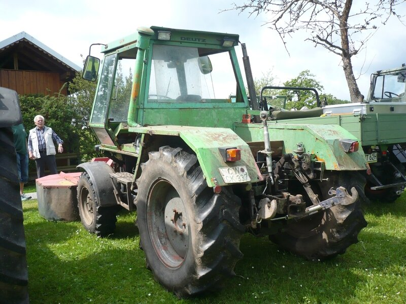 DEUTZ Intrac 2002 avec faucheuse Fahr KM25F Bad Teinach - Schmieh (2)