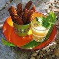 Céleri frit, émulsion de mangue