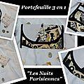 Portefeuille les nuits parisiennes black & white