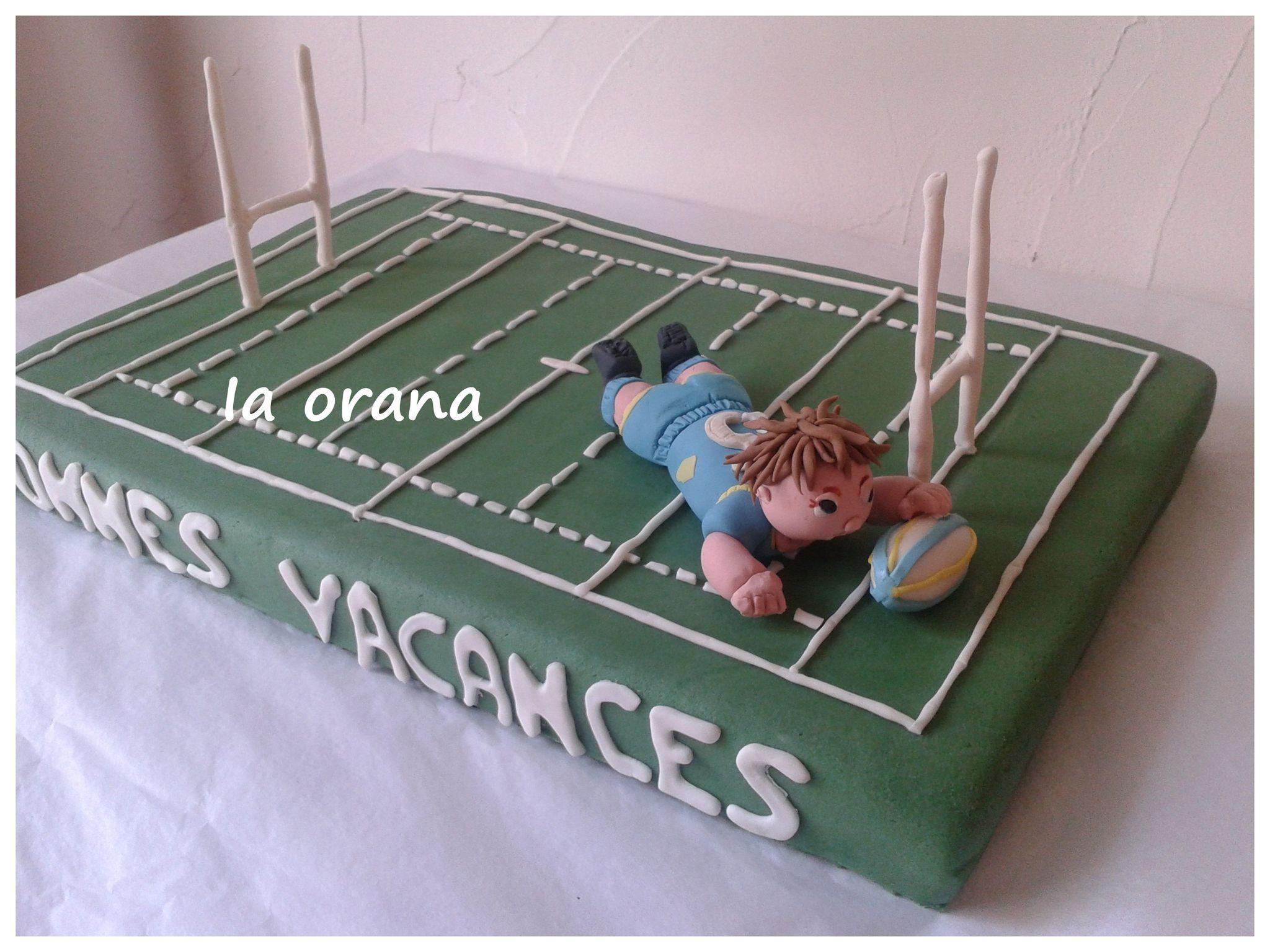 deco gateau rugby