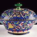 A fine enamelled copper cup and cover, private manufacture, from guangzhou, china, 18th century