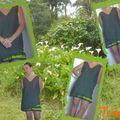 robe pareo vert à volants