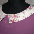 Robe KwikSew 3486 microfibre violette & coton Dorothy 6