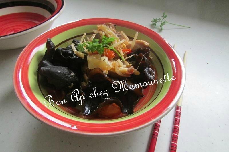 filets de dinde champignons rosés et noirs sirop d'érable 010-