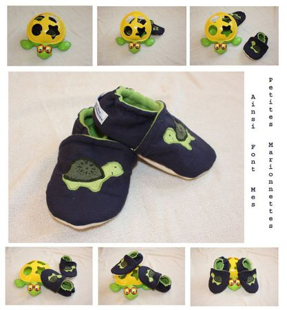 chaussons tortue