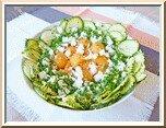 0298 - salade courgette, riz, melon, féta