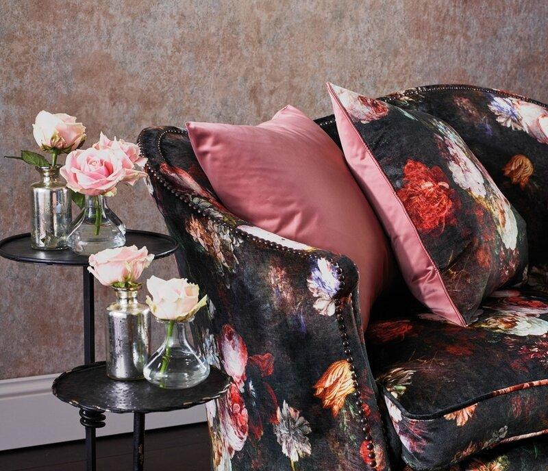velours fleurs côté sièges