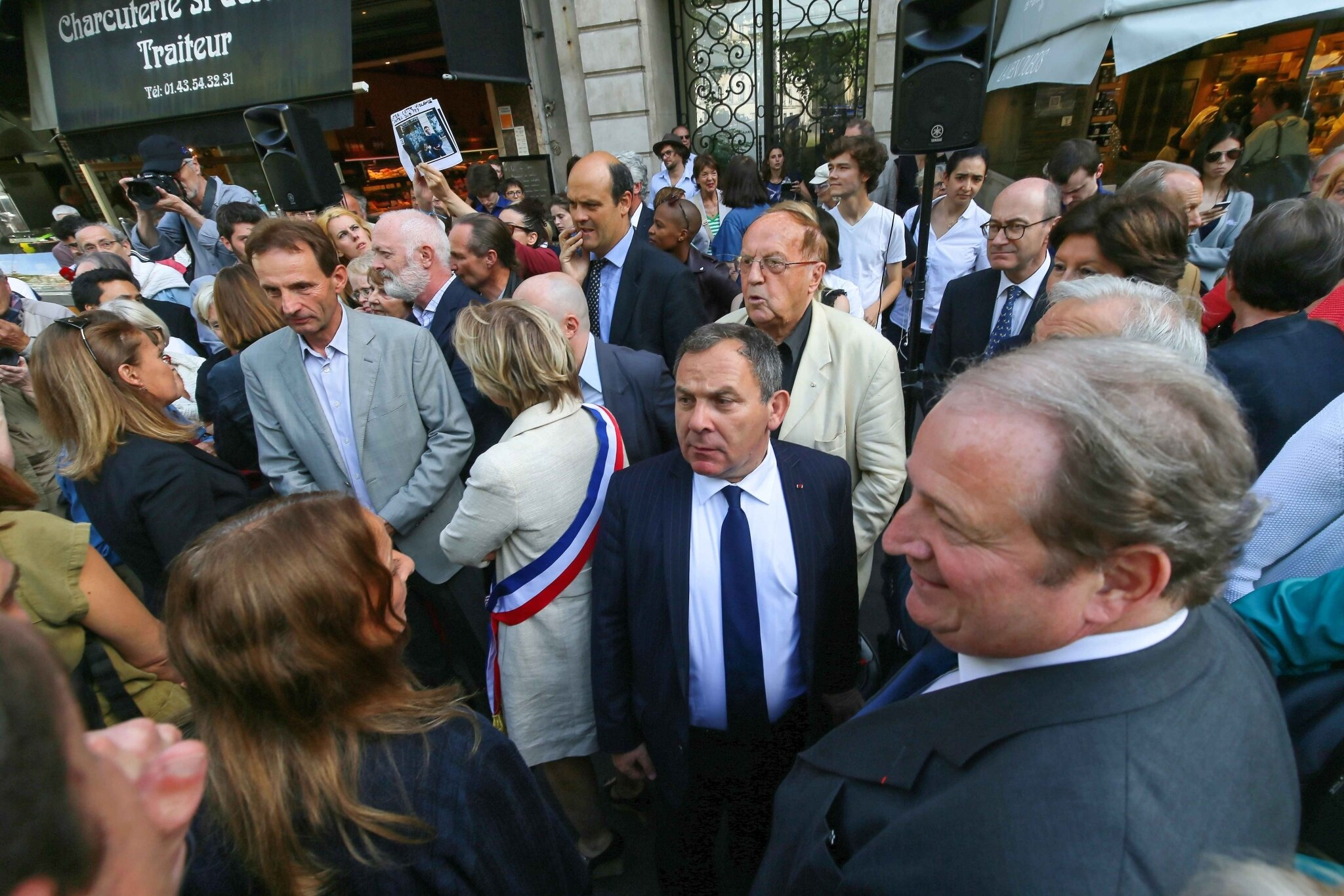 Agression de NKM : un rassemblement à Paris. © Michel Stoupak.