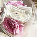 Mariage rétro rose ivoire