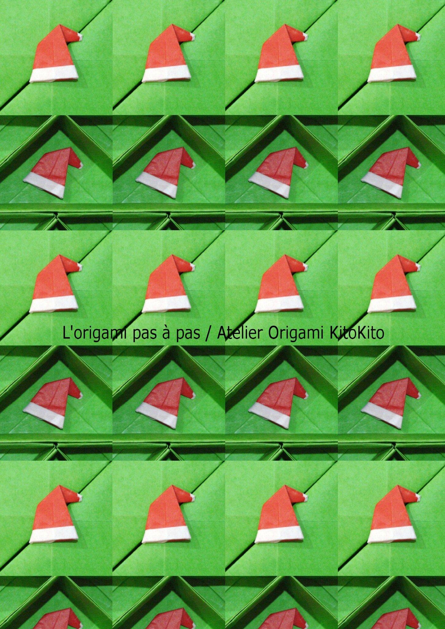 bonnet de p re no l 1 pour calendrier de l 39 avent no l l 39 origami pas pas atelier. Black Bedroom Furniture Sets. Home Design Ideas