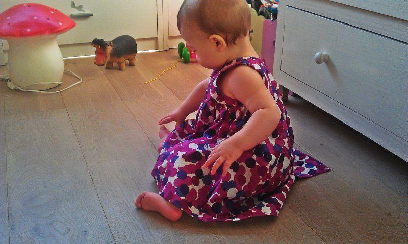 V robe froncée 3