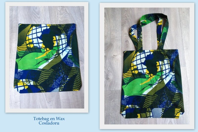 Tote bag en wax2