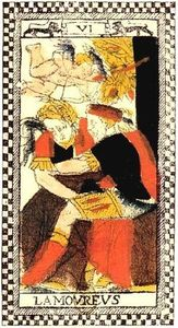 Amoureux Tarot Parisien original