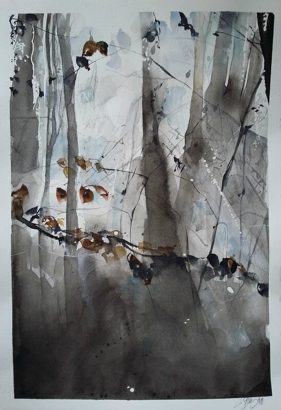 watercolors inspired by nature and by Sander Stein's Great photographs (7)