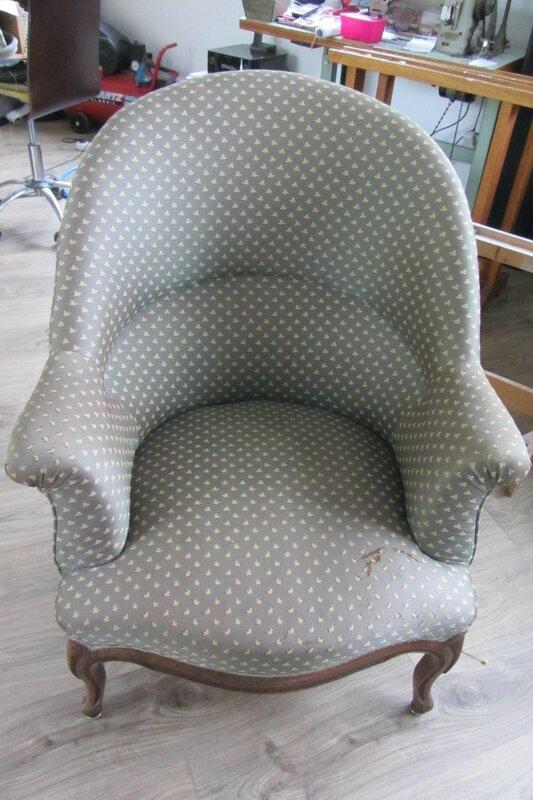 fauteuil crapaud à retapisser
