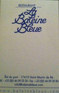 La Baleine Bleue Carte de visite J&W