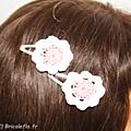 pinces chinées rose blanc b