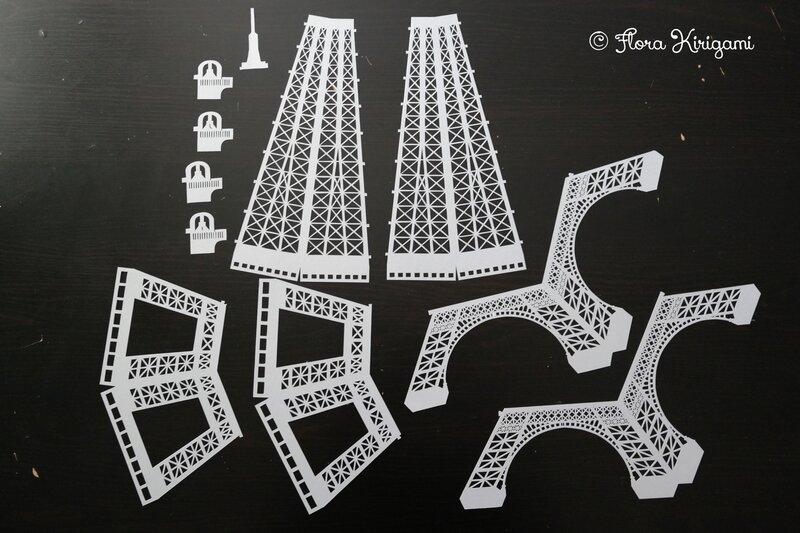 tour Eiffel Kirigami 1