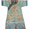 A turquoise-ground concubine's formal court robe, jifu, 19th century