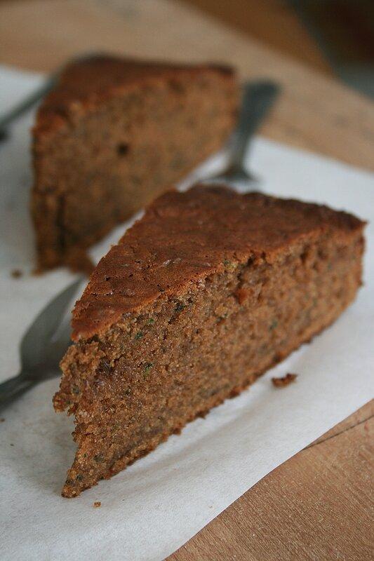 Gâteau chocolat et courgettes 2