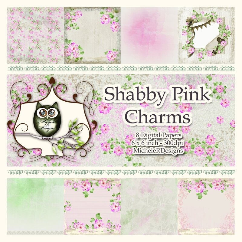 Shabby Pink Charms Front Sheet