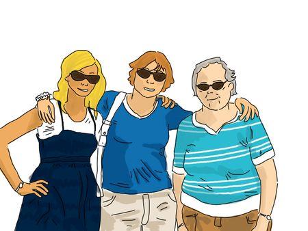 mamie, maman et moi