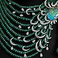 Cartier emerald, opal and diamond necklace with yellow diamond solitaire