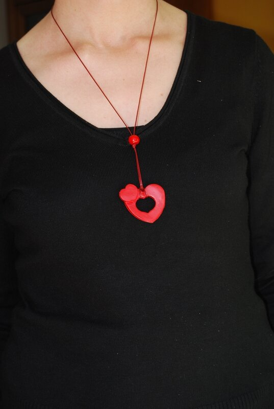 pendentif double coeur (dispo)