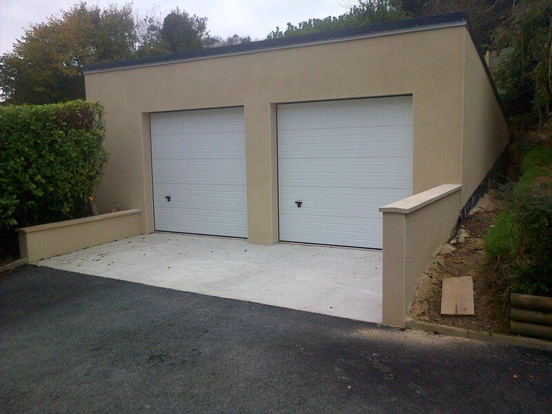construction d 39 un garage tollevast photo du plan b. Black Bedroom Furniture Sets. Home Design Ideas
