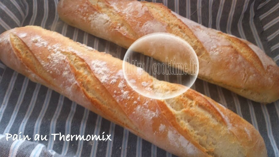 Pain ou baguettes au thermomix ou pas cook time for Baguette du maison