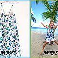 Une robe + un recyclage = une tunique