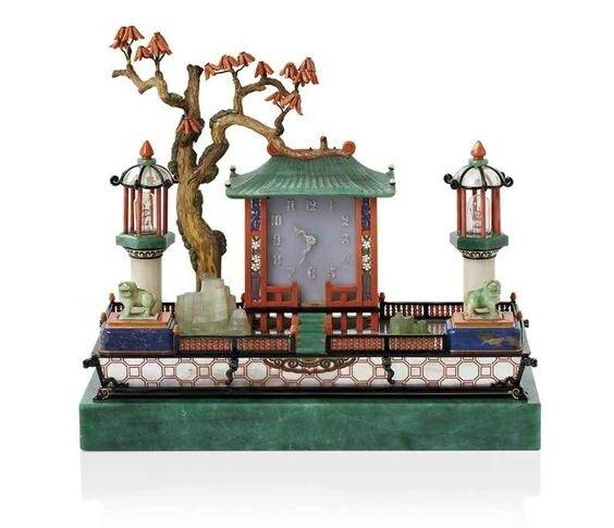 Ncessaire de bureau Art Dco Jardin japonais par Cartier