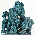 A turquoise 'scholar's rock' (gongshi), qing dynasty