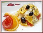 0433- filet de julienne, tomate et agrume
