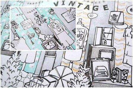 vitrine C&S_perspective_des années folles aux années vintage_Véronique Decourty_Dame la Lune